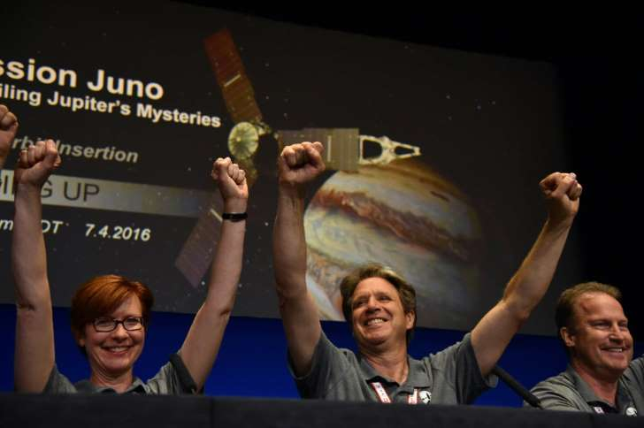NASA team Juno, celebrates the mission success